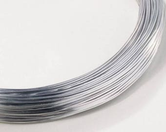 1 meter 1 mm for crafting Silver Aluminum wire