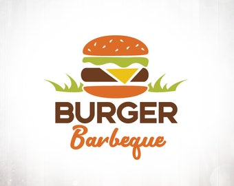 Premade Logo Design • Burger Barbeque