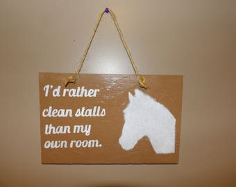 Horse Saying Glitter Sign