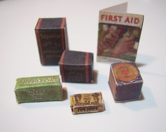 Miniature Vintage First Aid