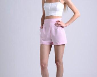vintage 50s baby pink shorts / more colors and sizes / retro shorts / 50s shorts / vintage shorts / pin up shorts / high waist shorts