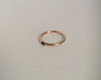 14k Rose gold Ruby Ring