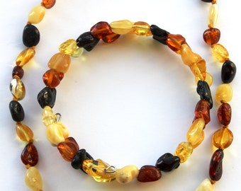 NATURAL BALTIC AMBER Baby Teething Necklace And Bracelet for Mommy