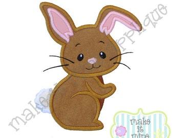 Applique Woodland Animal Bunny Rabbit Machine Applique Design