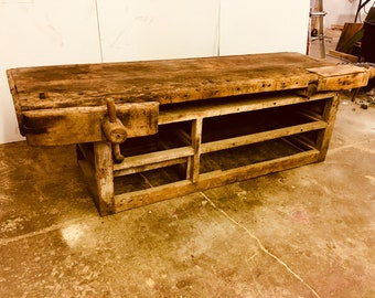 Gorgeous antique carpenters bench