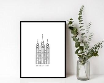 Salt Lake City, Utah - LDS Temple Print