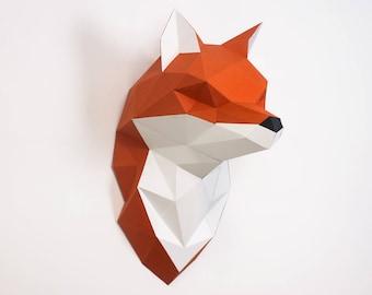 Papercraft Fox Etsy