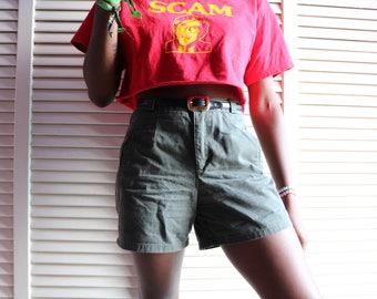 Vintage 90s Olive Green Shorts