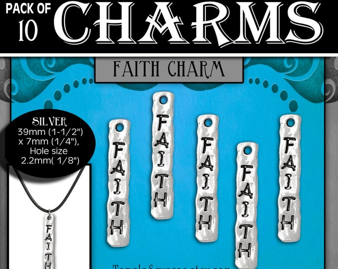 Faith Charms Silver YW 2017 Ask of God Ask in Faith Mutual Theme LDS Jewelry Craft Supplies DIY Choker, Pendant, Necklace, Bracelets, Gift