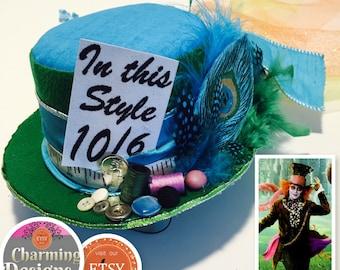Mad Hatter Top Hat - Hatter Top Hat - Mad Hatter -  by Charming Designs