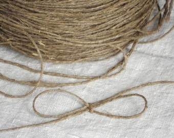 Vintage jute string gift tag cord rough rustic jute twine thread for crafts