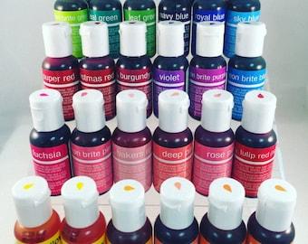 ChefMaster Liqua-gels® 0.70 oz Food Color .70 ounces ALL 29 COLORS Available!!!