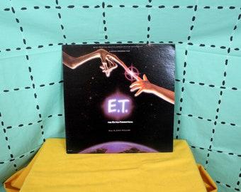 E.T. The Extra Terrestrial -  Original Soundtrack - Vintage Vinyl LP Record Album - John Williams E.T. Score. 1982 First Pressing E.T. Vinyl
