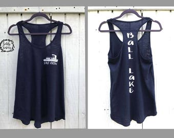 Custom Lake Crew Tank Top. Summer Tank Top. Vacation Tank Top.