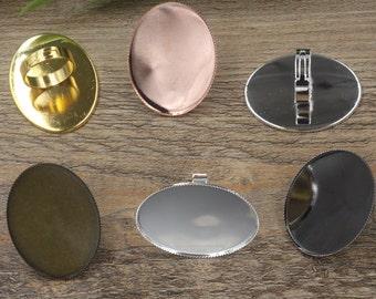 10 Jagged 30x40mm Oval Bezel Ring Adjustable Brass Bronze/ Silver/ Gold/ Rose Gold/ White Gold/ Gun-Metal Plated- Z5152