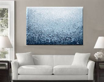 Dot Painting, Abstract Painting Extra Large Wall Art, Canvas Art Blue Abstract Art Modern Art, Blue Acrylic Painting, Dot Art, Dotted Art