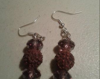 Purple Chrystal With Prayer Bead