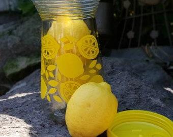 Retro Lemonade/Ice tea Pitcher/Sun Tea Canister/Glass Jar