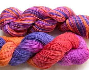 Cashmere Sock Yarn Merino/Cashmere/Nylon 400 yards Hand Painted