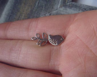 tiny little love bird earrings