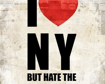 I Heart NY but hate the Yankees 8x10 Poster Print