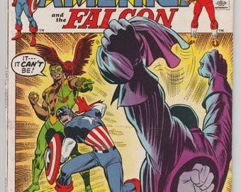 Captain America #143 and the Falcon 1971 Red Skull Returns Marvel Comics Steve Roger Bronze Age Comic Book 1970s