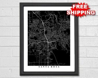 Petaluma Map Art - Black and White - California - Print - Map of Petaluma - Custom Map - Travel - Petaluma California - Office Decor