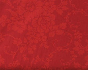 Red Tone on Tone Floral 100% Cotton Quilt Fabric,  Mary's Blenders Collection by Mary Koval for Windham Fabrics, WIF32033-1