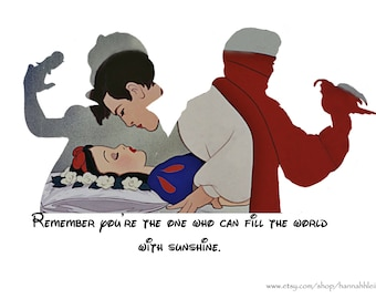 Snow White and Prince Charming silhouette