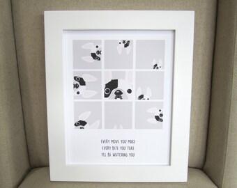 Every Move You Make French Bulldog Art Print