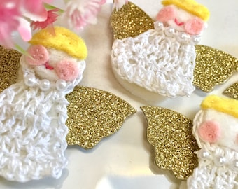 Angels ~ Crochet Angels ~ Angel Tags ~ Crochet Favors ~ Party Favors ~ Appliqués ~ Crochet Appliqués ~ Xmas Angels ~ Fairies ~ Angel Fairies