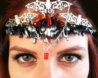CLEARANCE / Halloween Tiara / Halloween Crown / Bat Circlette / Pumpkin Tiara / Fairy Tiara / Fairy Crown / Halloween costume