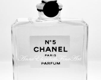 Chanel- Coco Chanel Print-Still Life- Black & White- Fashion Art- Perfume-Paris-Nursery Wall Art- Dorm Decor-Parisian-French,Vintage,Preppy