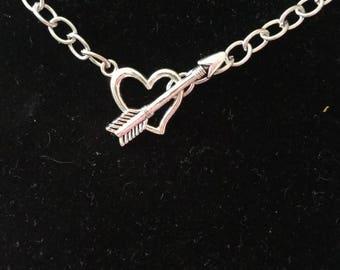 Arrow Through Heart Necklace