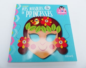 6 princesses masks to decorate with stickers stickers from 3 years