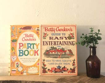 1959 and 1960 First Edition Betty Crocker Books Guide to Easy Entertaining and Party Book