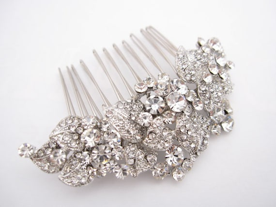 Wedding hair comb bridal hair accessories wedding rhinestone