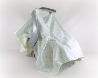 Car Seat Canopy, Cart Cover, Play Blanket in Dots and Stripes