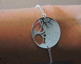 Chic and delicate sterling silver bracelet