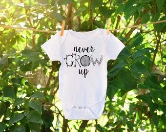Never Grow Up - Baby Onesie