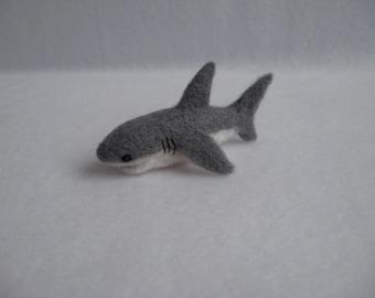 Needle Felted Shark. Miniature Toy