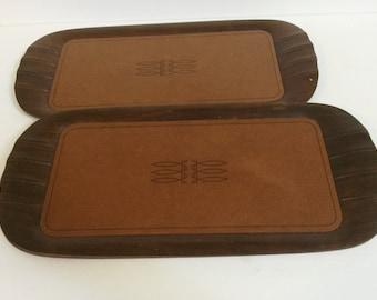 Set of 3 Vintage Toastmaster Wooden Trays