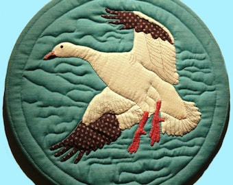 Snow Goose Quilted Wall Hanging