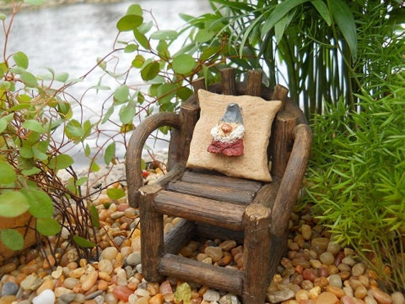 "1"" Square Gnome Pillow (Resin) Chair Not Incl."