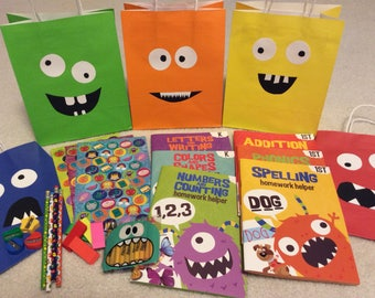 monster activity book set or adopt a monster party favor