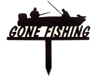 Gone Fishing & Boat Yard Stake
