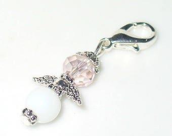 1 pendant Angel Pink, white 3.5 cm