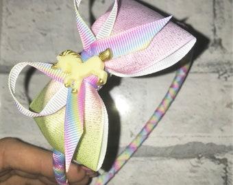 Rainbow headband, alice band, unicorn aliceband, rainbow unicorn