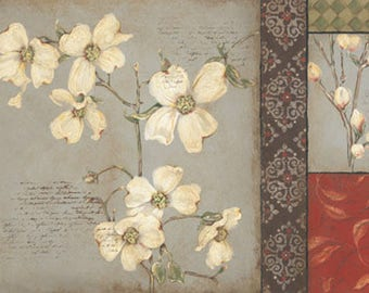 Beautiful Dogwood Tapestry I Panel 24x14 PRINT