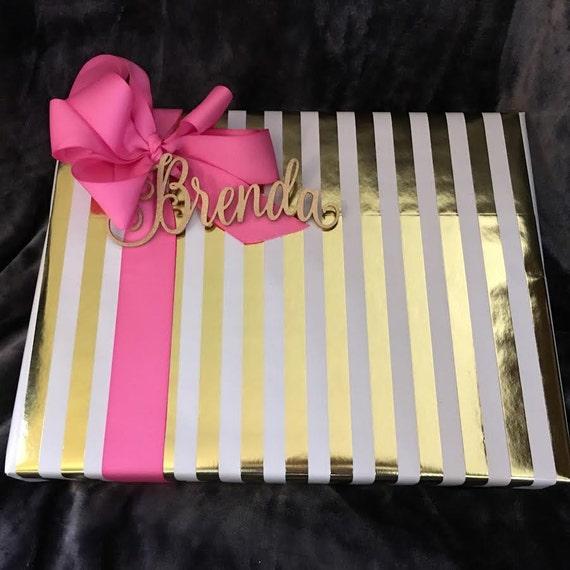 Present Name Tag, Custom Name Tag,  Christmas Gift Tag, Rustic Name Tag, Personalized Name Tag, Custom Gift Tag, Gold Gift Tag, Silver Tag